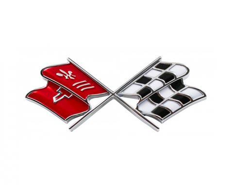 Trim Parts 69-73 Corvette Fuel Door Emblem, Each 5952