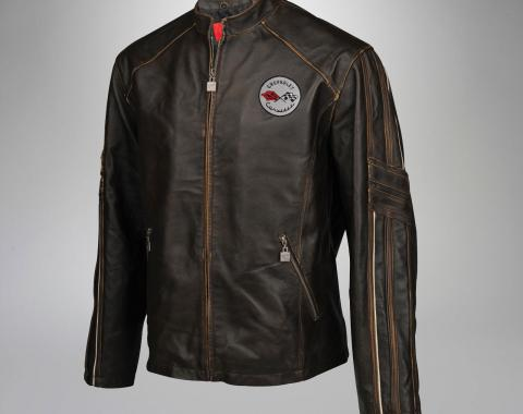 Mens C1 GS Racer Featherweight Extra Long Leather Jacket | 2XL