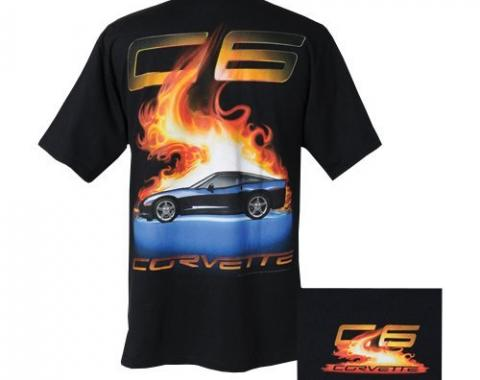 Corvette Shirt, C6 Flame