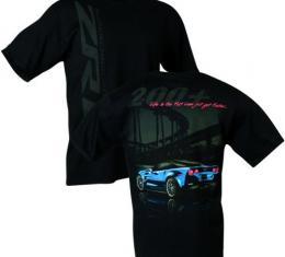 Corvette ZR1 Life in the Fast Lane Shirt, Blue Car