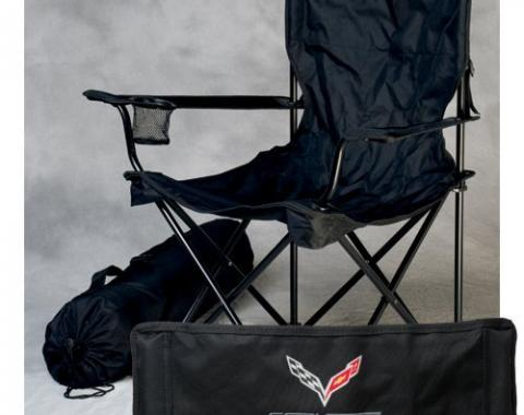 Corvette Folding Arm Chair, With C7 Emblem