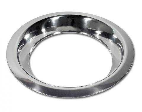 "Corvette Trim Ring, Stainless Steel, 8"" Rim, 1968-1982"