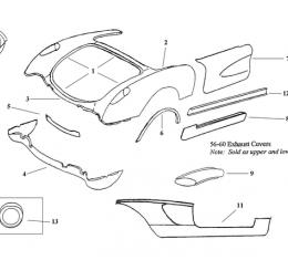 Corvette Rear Lower Valance Panel, 1956-1960