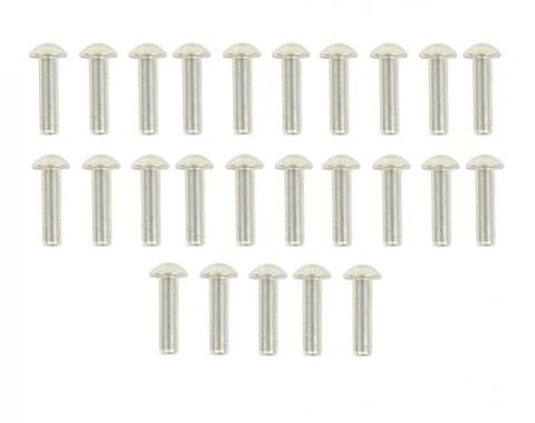 "Corvette Body Assembly Rivets, 25 Piece, Round Head 1/8"" X 1/2"", 1953-1962"