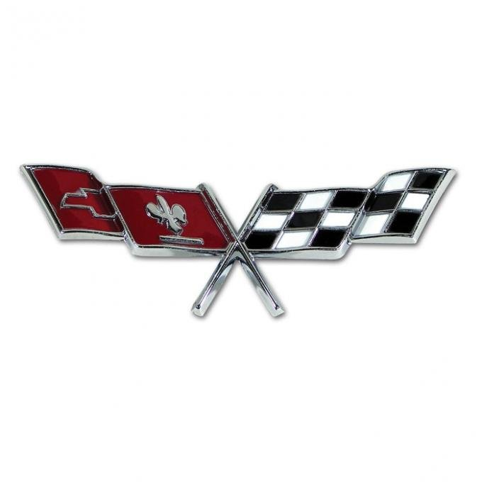 Corvette Side Crossed-Flags Emblem, 1977-1979