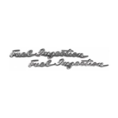 Trim Parts 58-61 Corvette Front Fender Emblem, Fuel Injection, Pair 5153