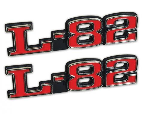 Trim Parts 75-79 Corvette Hood Emblem, L-82, Pair 5965