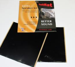 "HushMat Speaker Kit - Stealth Black Foil with Self-Adhesive Butyl-2 Sheets 10"" x 10"" ea 1.4 sq ft 10110"