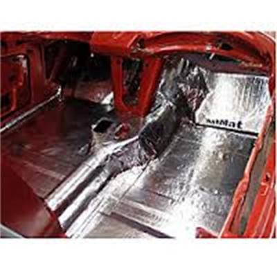 HushMat Chevrolet Chevy II 1962-1967   Floor Deadening and Insulation Kit 626621
