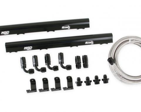 MSD Atomic EFI Billet Fuel Rail Kit 2725