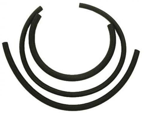 Corvette Air Conditioning Hoses, 3 Piece Set without Logo, 1963-1968
