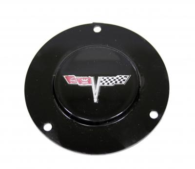 Corvette Horn Button Emblem, With Tilt/Telescopic Column, 1977 & 1979-1981