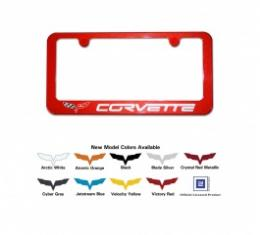 Corvette License Plate Frame, Painted To Match, LeMans Blue, 2005-2013