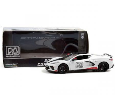 Greenlight 2020 Chevrolet Corvette C8 Stingray Coupe, Road America Official Pace Car   White