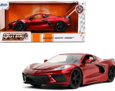 Jada Big Time Muscle 2020 Chevy Corvette C8 Stingray Candy Red