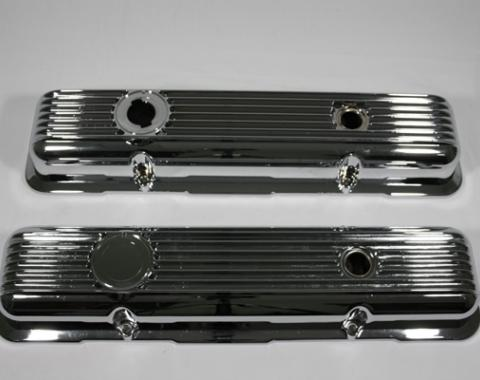 Corvette Valve Covers, Chrome Aluminum, LT1 & L82, 1969-1982