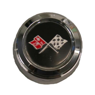 Corvette Wheel Center Cap, Chrome, With Emblem, For Cars With Aluminum Wheels, Pace Car, 1978