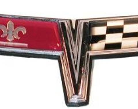 Corvette Front Emblem, Crossed-Flags, 1980