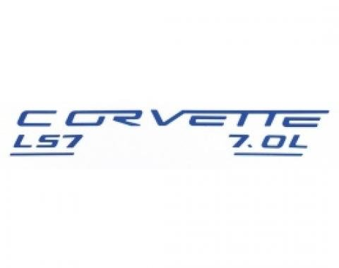 Corvette C6 LS7 Fuel Rail Letter Kit, 2006-2013 |  Lemans Blue