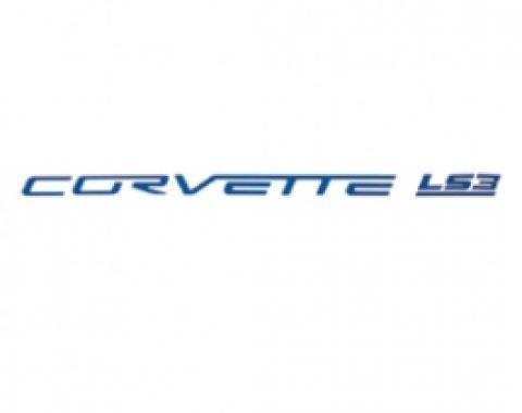 Corvette Fuel Rail Letter Set, LS3, Gloss Blue, 2008-2013