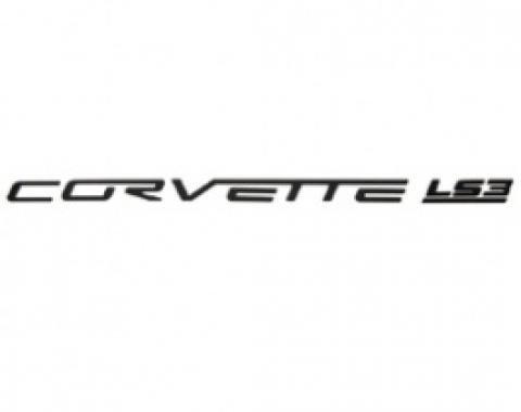 Corvette Fuel Rail Letter Set, LS3, Gloss Black, 2008-2013