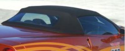 Corvette Convertible Top, Cloth, Black Twill Fast II, With Hard Rear Window, 2005-2013