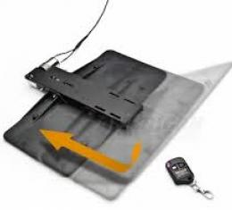"""Corvette Front License Plate Mount, """"Show & Go"""", With Remote, 1997-2013"""