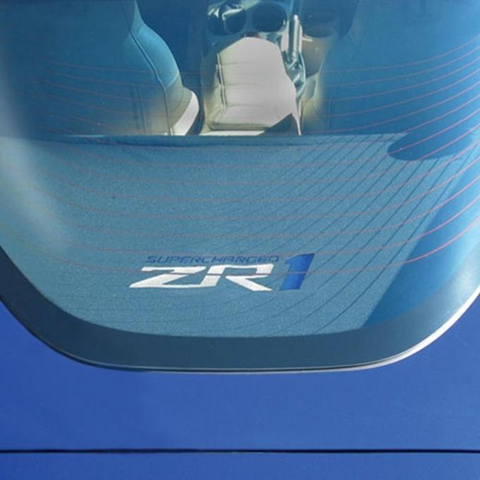 Corvette Rear Cargo Shade, With Embroidered C6 ZR1 Logo, 2005-2013