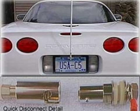 Corvette CB NGP Antenna System, With Quick Disconnect & Red Antenna Mast, 1997-2004