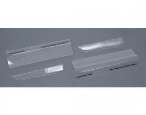Corvette Door Panel & Sill Protector Kit, Clear, Sill Ease, 2005-2013