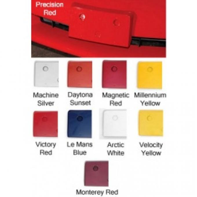 Corvette Front License Plate Holder, Painted In Factory Colors, Torch Red, 2010-2013
