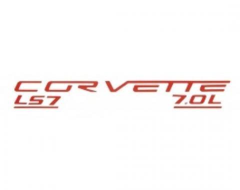 Corvette C6 LS7 Fuel Rail Letter Kit, 2006-2013 |  Red
