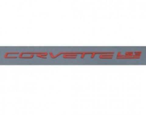 Corvette Fuel Rail Letter Set, LS3, Gloss Red, 2008-2013