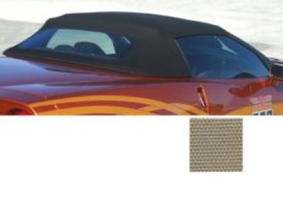 Corvette Convertible Top, Cloth, Beige Twill Fast 11, With Hard Rear Window, 2005-2013