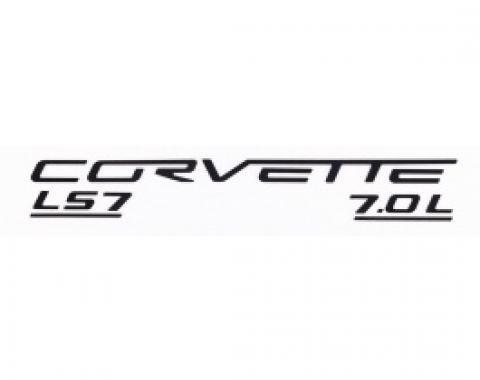 Corvette C6 LS7 Fuel Rail Letter Kit, 2006-2013 |  Black