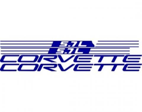 Corvette Fuel Rail Cover Letter Kit, 1999-2004