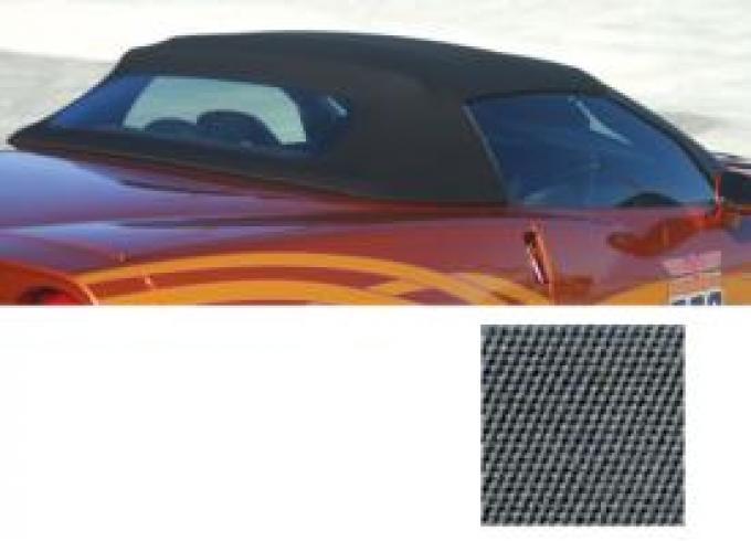 Corvette Convertible Top, Cloth, Titanium Twill Fast II, With Hard Rear Window, 2005-2013