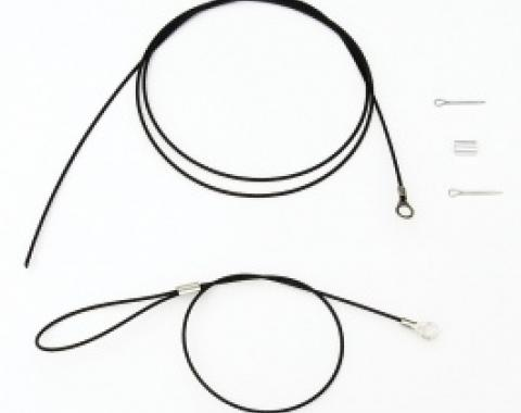 Corvette Emergency Hood Release Cable, 1977-1982