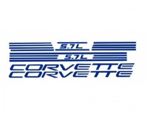 Corvette Fuel Rail Cover Letter Kit, 1997-1998