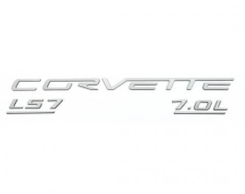 Corvette C6 LS7 Fuel Rail Letter Kit, 2006-2013 |  Ultra Chrome