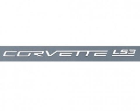 Corvette Fuel Rail Letter Set, LS3, Gloss White, 2008-2013