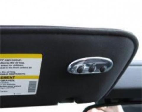 Corvette Homelink Visor Button Cover, Aluminum, 2005-2007
