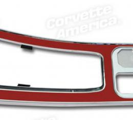 Corvette Center Console, Red without Power Windows, 1964