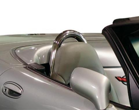 Corvette Convertible Seat Back Hoops, Chrome, 1998-2004