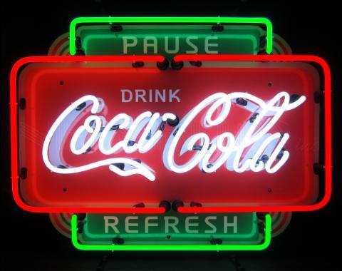 Neonetics Standard Size Neon Signs, Coca-Cola Pause Refresh Neon Sign