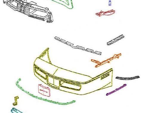 Corvette Front Bumper, Stock, ACI, TruFlex, 1991-1996