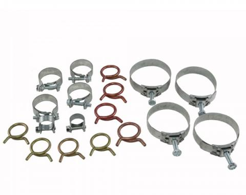 Corvette Radiator/Heater Hose Clamp Kit, With 327ci High Performance & With Air Conditioning, 1963-1967
