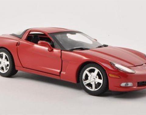 Motor Max 1:24 W/B 2005 Chevrolet Corvette C6 Red