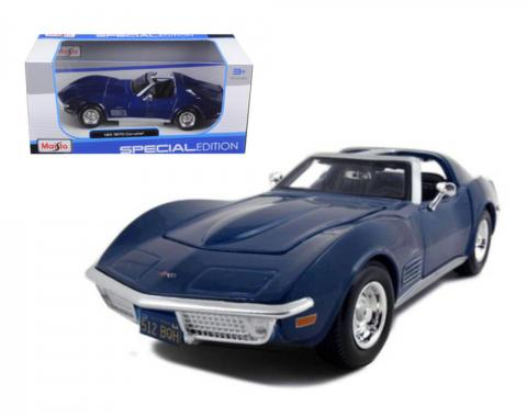 Corvette 1970 Coupe Blue 1/24 Diecast