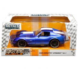 Jada 1:24 W/B - Metals - Bigtime Muscle - 1969 Chevrolet Corvette Stingray ZL-1 (Blue)